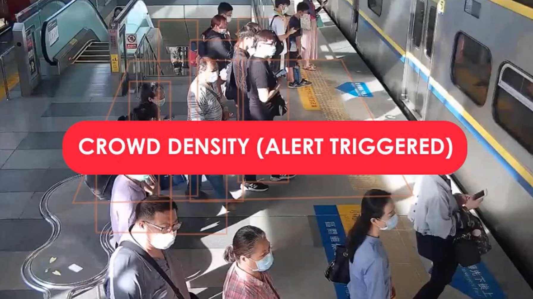 Reopening and Recovering with Edge AI: Social Distancing with Crowd Density Alerts
