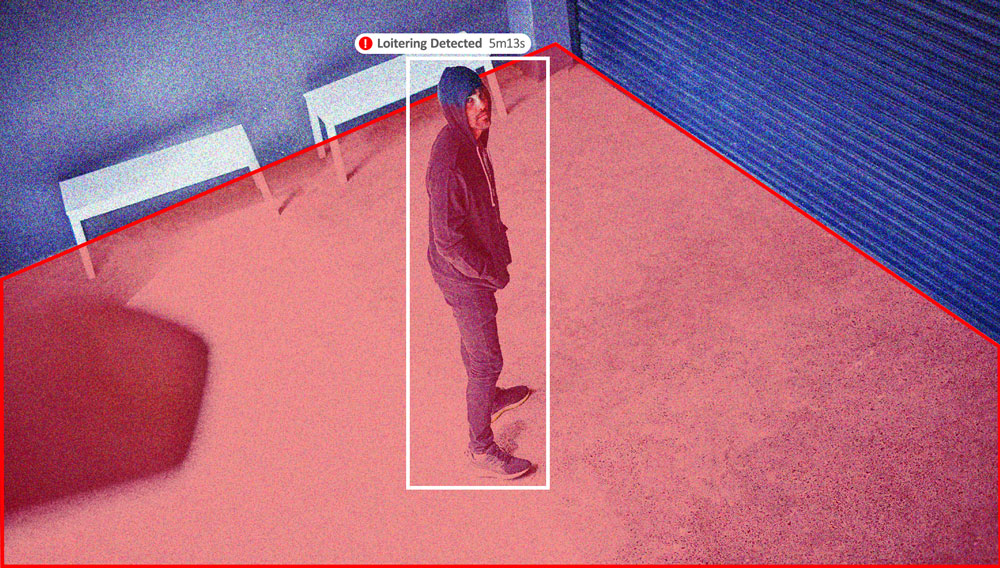 Image showing loitering video analytics from Gorilla Technology.