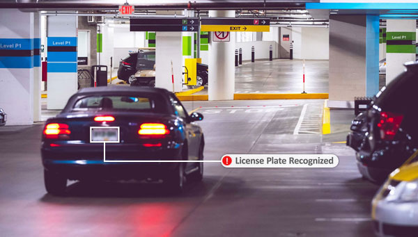 Image showing license plate recognition video analytics from Gorilla Technology.