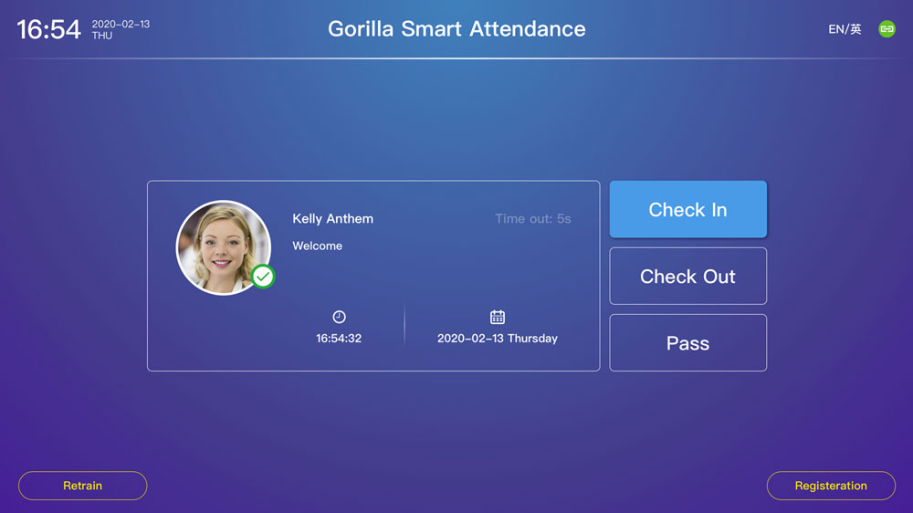 Image showing the dashboard user interface on Gorilla Technology's Smart Attendance and Access Control business intelligence video analytics solution.